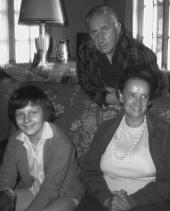 Viviane, Edgar et Jeanne le 28 mai 1967.