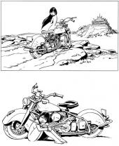 Conrad - Alix nue à la moto