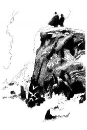 falaise (dessin inédit)