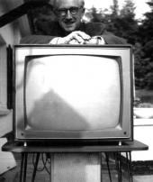 Edgar P. Jacobs et sa télévision en 1966