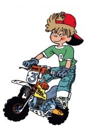 Pixels garçon moto 2