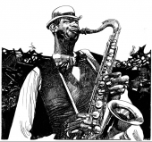 blues saxophoniste