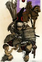Samouraï et bébé
