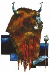 Toppi Ouest - Tête de bison