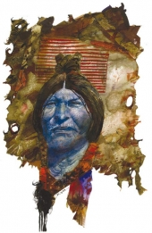 Toppi Ouest - visage bleu